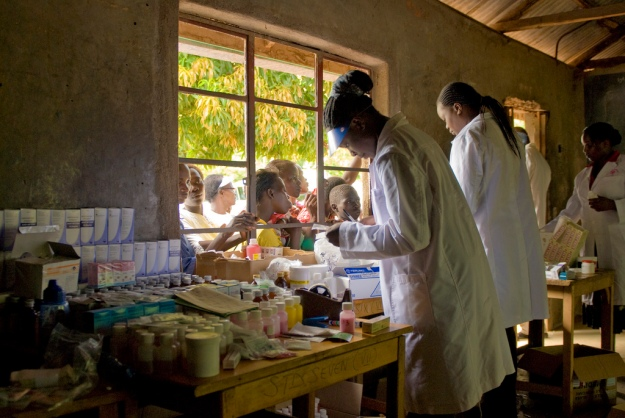 U.S. Army medical researchers take part in World Malaria Day 2010, Kisumu, Kenya